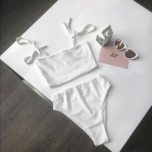 Tiger Mist White Swimsuit